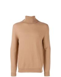 Jersey de cuello alto marrón claro de Mauro Grifoni