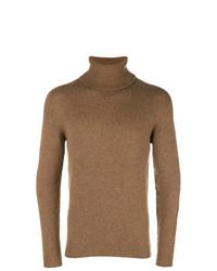 Jersey de cuello alto marrón claro de Nuur