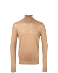 Jersey de cuello alto marrón claro de Prada