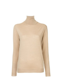 Jersey de cuello alto marrón claro de Stella McCartney