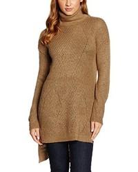 Jersey de cuello alto marrón claro de Vero Moda