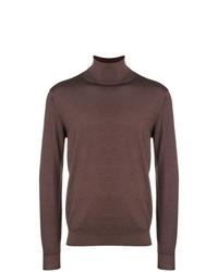 Jersey de cuello alto marrón de Dell'oglio