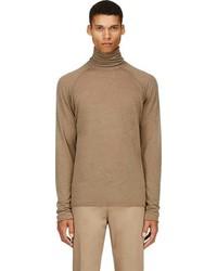 Jersey de cuello alto marrón de Haider Ackermann