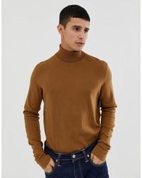 Jersey de cuello alto marrón de KIOMI
