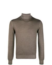 Jersey de cuello alto marrón de La Fileria For D'aniello