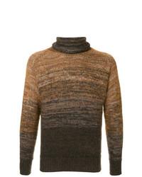 Jersey de cuello alto marrón de Maison Flaneur