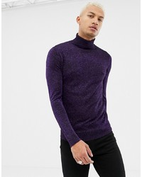Jersey de cuello alto morado oscuro de Night Addict
