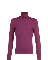 Jersey de cuello alto morado de Calvin Klein 205W39nyc