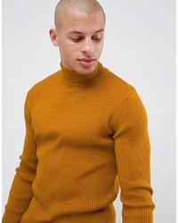 Jersey de cuello alto mostaza de ASOS DESIGN