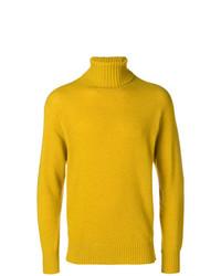Jersey de cuello alto mostaza de Maison Flaneur
