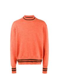 Jersey de cuello alto naranja de Marni