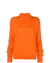 Jersey de cuello alto naranja de MM6 MAISON MARGIELA