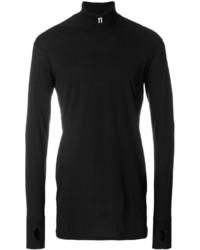 Jersey de cuello alto negro de 11 By Boris Bidjan Saberi