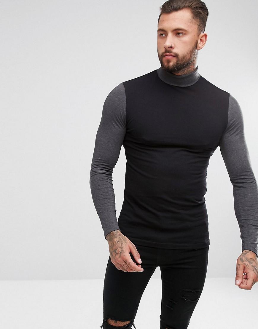 Jersey de cuello alto negro de ASOS DESIGN