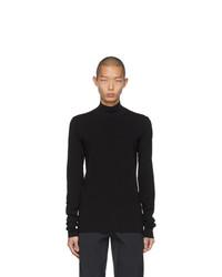 Jersey de cuello alto negro de Bottega Veneta