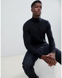 Jersey de cuello alto negro de Burton Menswear