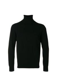 Jersey de cuello alto negro de Cruciani