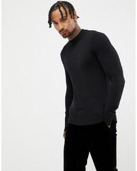 Jersey de cuello alto negro de Gianni Feraud