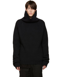 Jersey de cuello alto negro de Haider Ackermann