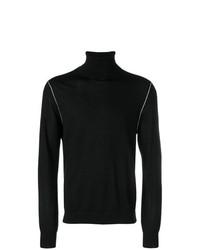 Jersey de cuello alto negro de Helmut Lang