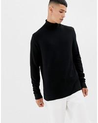 Jersey de cuello alto negro de KIOMI