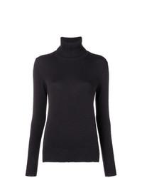 Jersey de cuello alto negro de Loro Piana