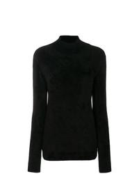 Jersey de cuello alto negro de Marni