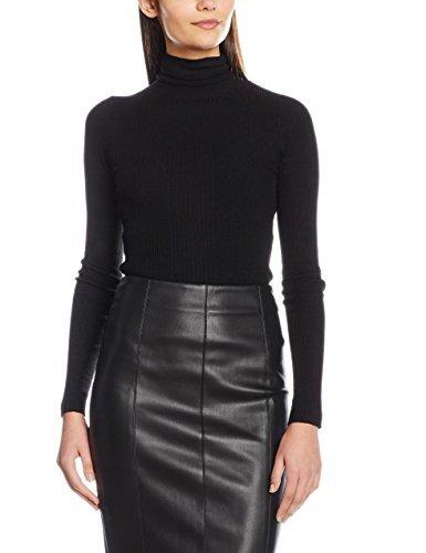 Jersey de cuello alto negro de Miss Selfridge