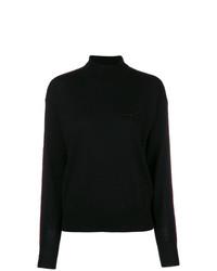 Jersey de cuello alto negro de MM6 MAISON MARGIELA