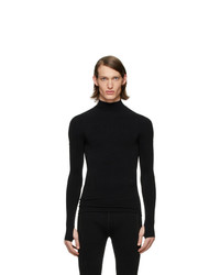 Jersey de cuello alto negro de Moncler Genius