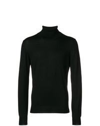 Jersey de cuello alto negro de Tagliatore