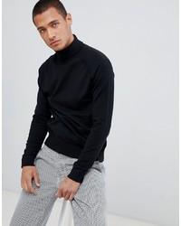 Jersey de cuello alto negro de Threadbare