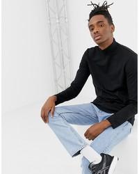 Jersey de cuello alto negro de Weekday