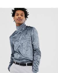 Jersey de cuello alto plateado