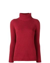 Jersey de cuello alto rojo de Aragona
