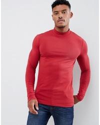Jersey de cuello alto rojo de ASOS DESIGN