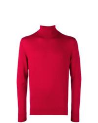 Jersey de cuello alto rojo de Calvin Klein