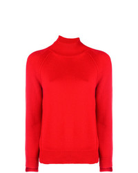 Jersey de cuello alto rojo de Helmut Lang