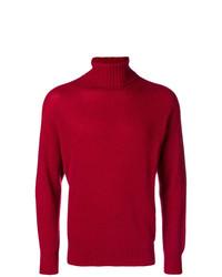 Jersey de cuello alto rojo de Maison Flaneur