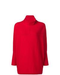 Jersey de cuello alto rojo de Philo-Sofie