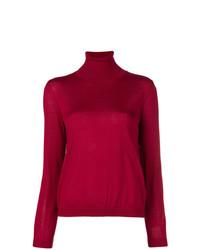 Jersey de cuello alto rojo de RED Valentino