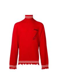 Jersey de cuello alto rojo de Riccardo Comi