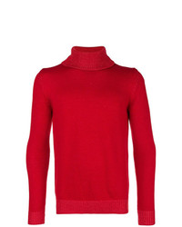 Jersey de cuello alto rojo de Roberto Collina