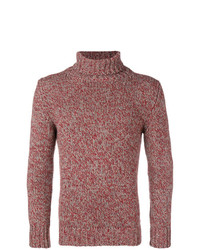 Jersey de cuello alto rojo de Zanone