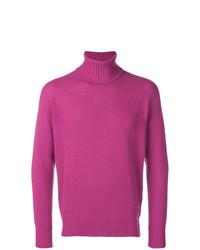 Jersey de cuello alto rosa de Maison Flaneur