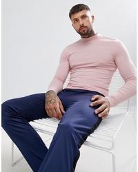 Jersey de cuello alto rosado de ASOS DESIGN