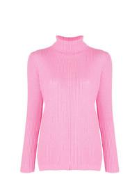 Jersey de cuello alto rosado de Blugirl