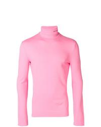 Jersey de cuello alto rosado de Calvin Klein 205W39nyc