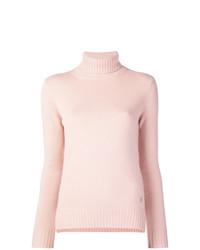 Jersey de cuello alto rosado de Loro Piana