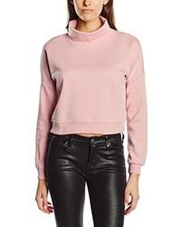 Jersey de cuello alto rosado de Only